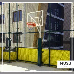 Basketbol Potası Tek Direk Antrenman Ön Koruyuculu