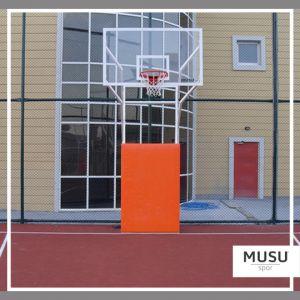 Basketbol Potası 4 Direk Sabit Model Ön Koruyuculu