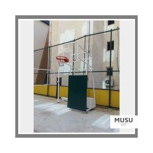 Basketbol Potası 4 Direk Tekerlekli Ağırlıklı Antrenman Ön Koruyuculu
